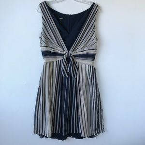 Escada 100% Silk Striped Chiffon Dress #1942